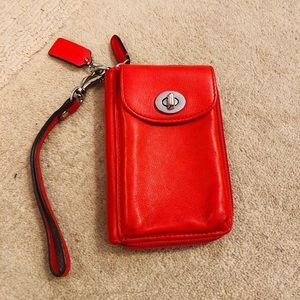 Coach phone/wallet wristlet